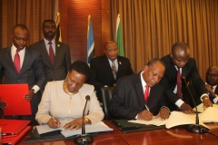 Signing of the Inter Governmental Agreement (IGA) for the East African Crude Oil Pipeline (EACOP) project.